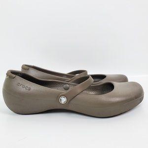Crocs Maryjane Slip On Sandals EUC!